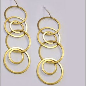 Reform Coupling Earrings (14K gold plated